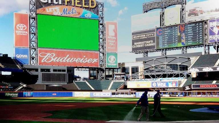 Citi Field prepares for Game 1 of the