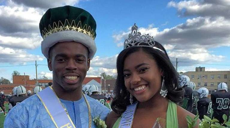 Elmont High School's 2015 homecoming king and queen,