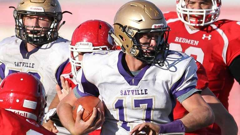 Sayville's Jack Coan looks to get by East