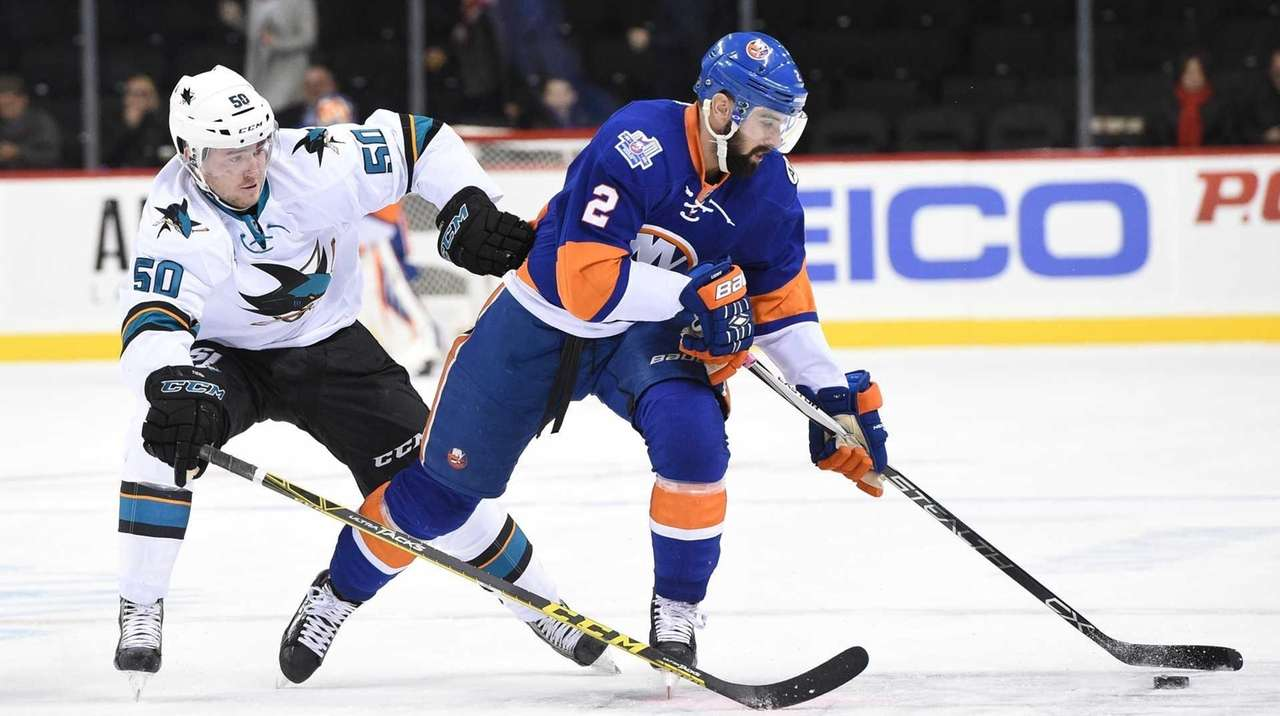 New York Islanders defenseman Nick Leddy skates against