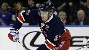 New York Rangers defenseman Ryan McDonagh (27) makes
