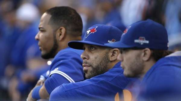 Toronto Blue Jays starting pitcher David Price, center,