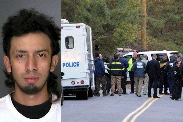 Bryan RosalesMejia, 21, of Amityville, left, was arrested
