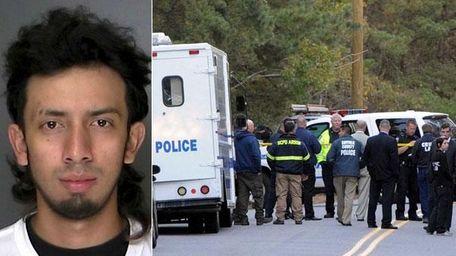 Bryan RosalesMejia, 21, of Amityville, left, was arrested