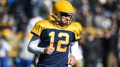 Quarterback Aaron Rodgers #12 of the Green Bay
