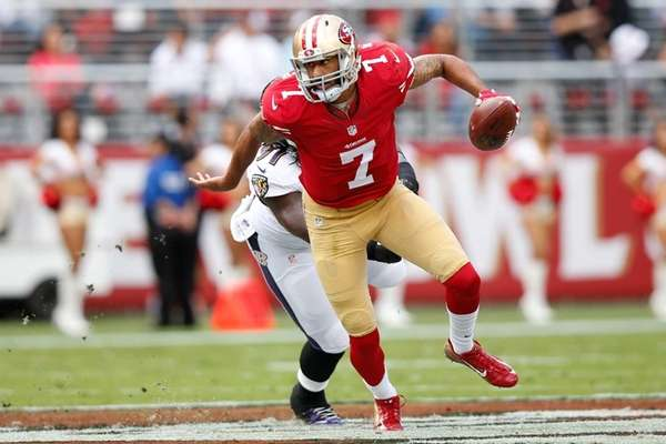 Quarterback Colin Kaepernick #7 of the San Francisco