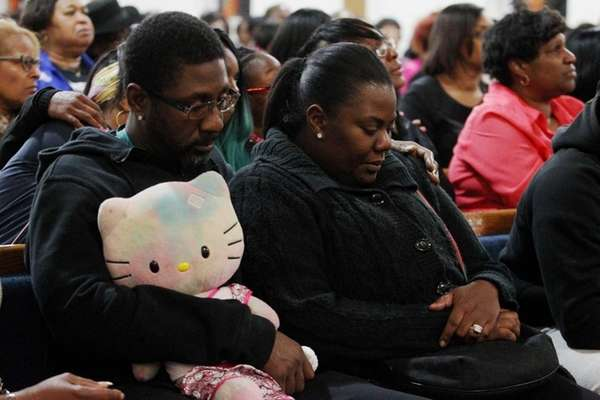 Dameon and Keisha Joyner attend a vigil