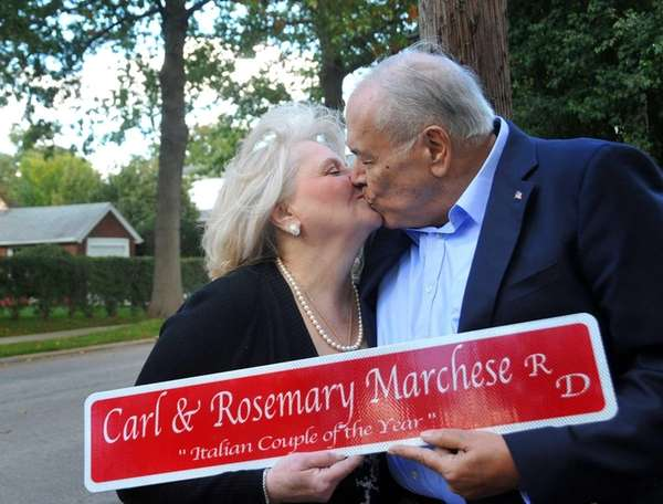 Rosemary and Carl Marchese of Mineola were honored