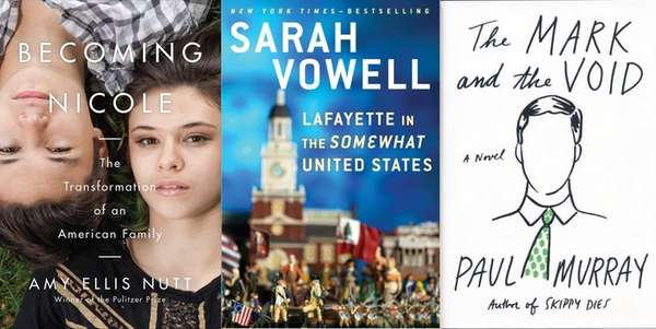 New books by Amy Ellis Nutt, Sarah Vowell