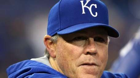 Manager Ned Yost of the Kansas City Royals
