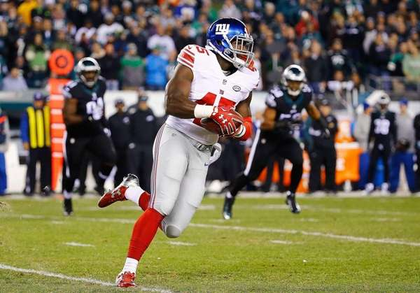 Will Tye of the New York Giants completes