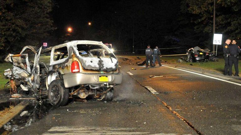A head-on crash involving a wrong-way driver killed