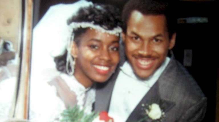 Jeanine and Ken Cox on their wedding day,