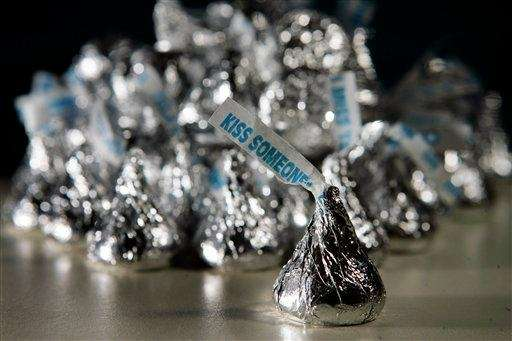 Hershey's chocolate kisses are shown in this 2007