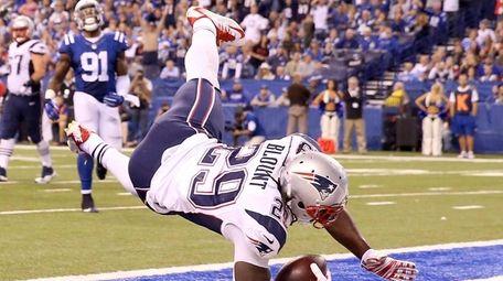 LeGarrette Blount #29 of the New England Patriots