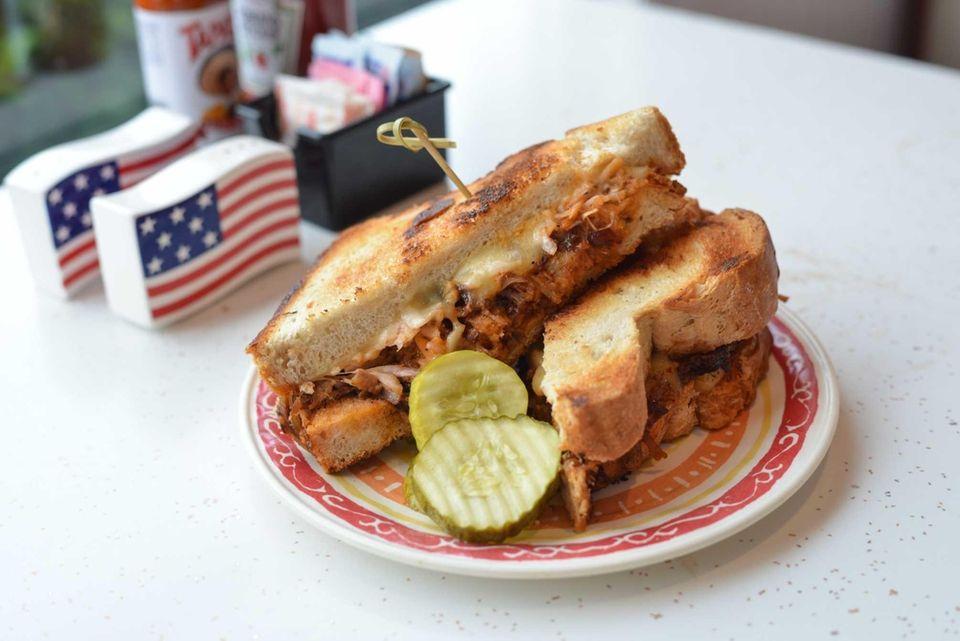 Pulled Pork Panino at Crazy Beans, Stony Brook: