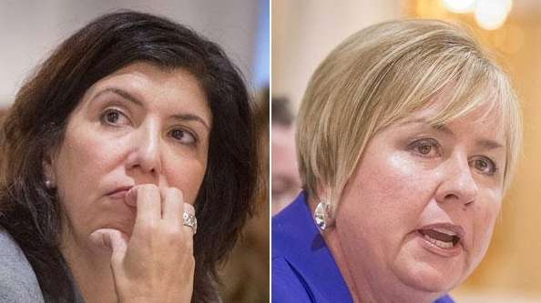 Nassau County district attorney candidates Madeline Singas and