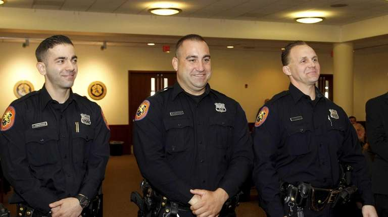 Second precinct officers Joseph Lamariana, Frank Bokrosh, and