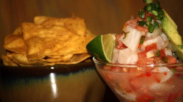 Shrimp ceviche is on the menu at the