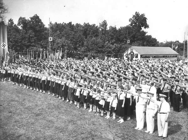 An undated photo at Camp Siegfried in Yaphank
