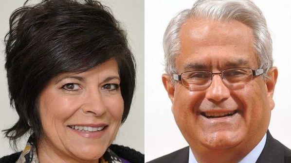 Rita Kestenbaum, left, Democratic candidate for Town of