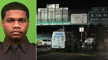 NYPD Officer Randolph Holder, 33, of Brooklyn, was