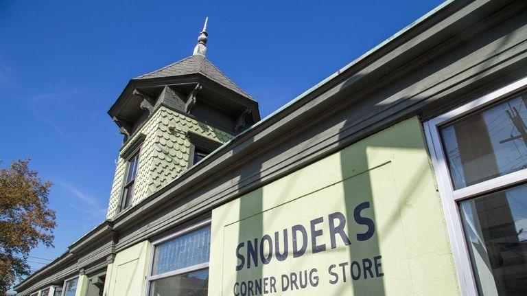 The old Snouders Corner Drug store in downtown