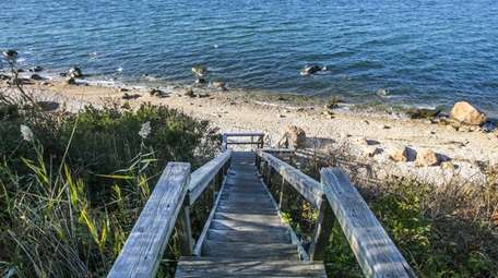 Horton's Point Lighthouse Beach in Southold overlooks the