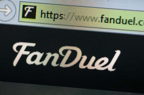 The fantasy sports website FanDuel is shown on