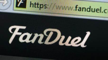 The fantasy sports website FanDuel is shown on