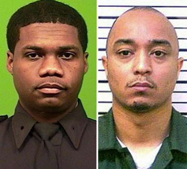 NYPD Officer Randolph Holder, left, was fatally wounded