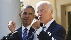 Vice President Joe Biden, with President Barack Obama,