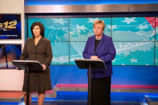 Candidates for Nassau district attorney, Democrat Madeline Singas,