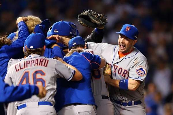 David Wright of the New York Mets celebrates