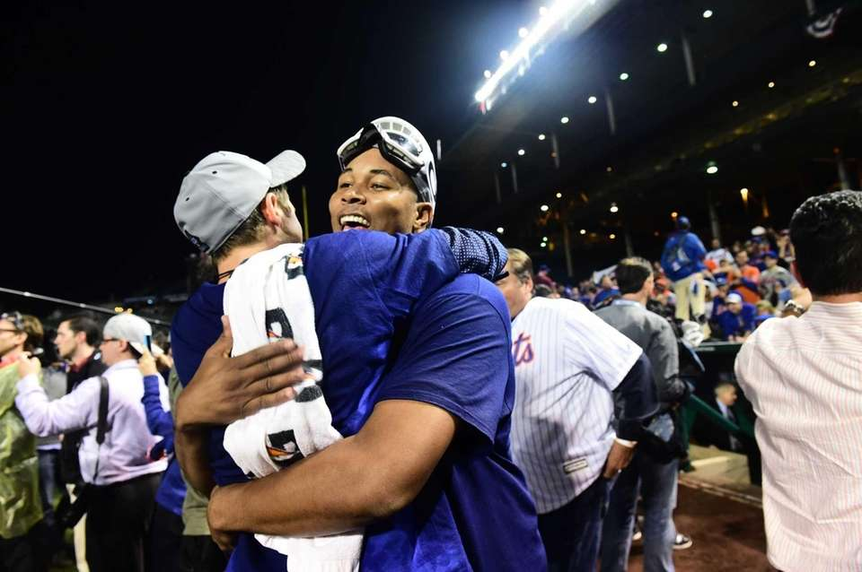New York Mets Jeurys Familia as he celebrates