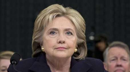 Former Secretary of State Hillary Clinton takes her