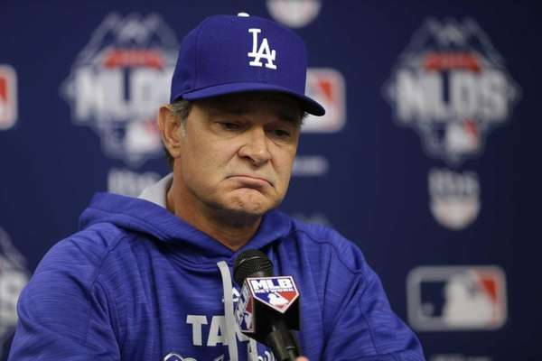Los Angeles Dodgers manager Don Mattingly speaks during