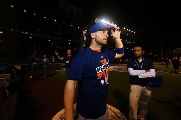 David Wright of the New York Mets celebrates