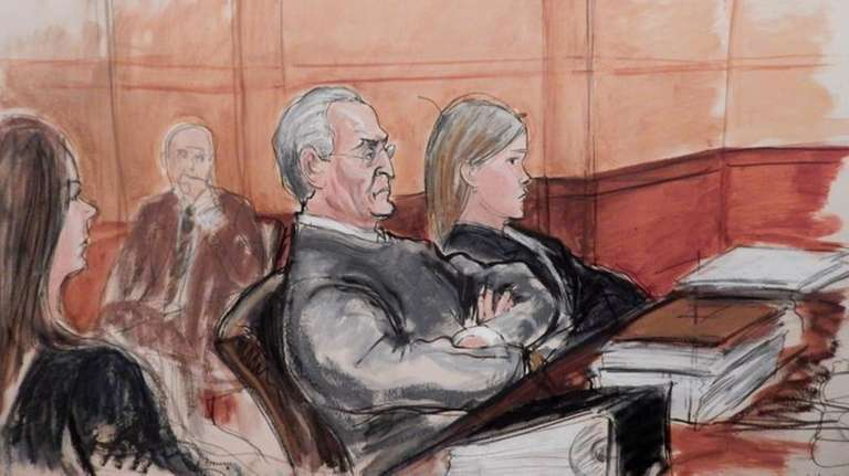 In this courtroom sketch, Vincent Asaro, 80, third