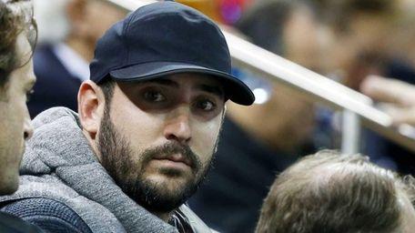 Matt Harvey of the Mets attends a game