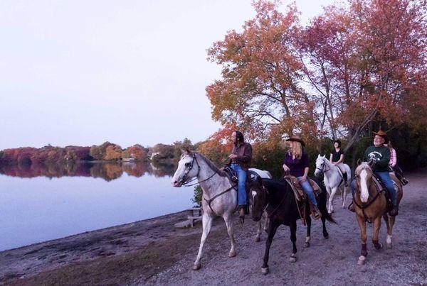 The Babylon Riding Center offers one-hour horseback rides