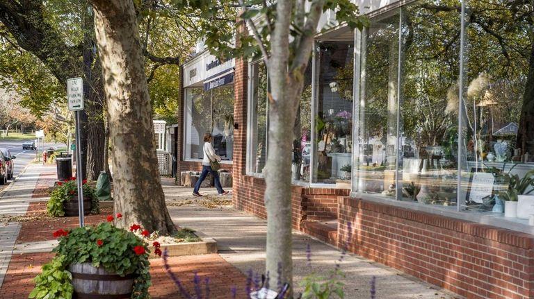 A view along Main Street in Amagansett on