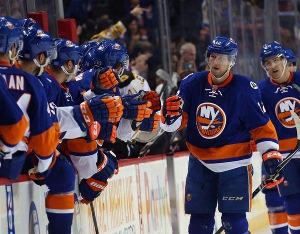 Josh Bailey of the New York Islanders celebrates