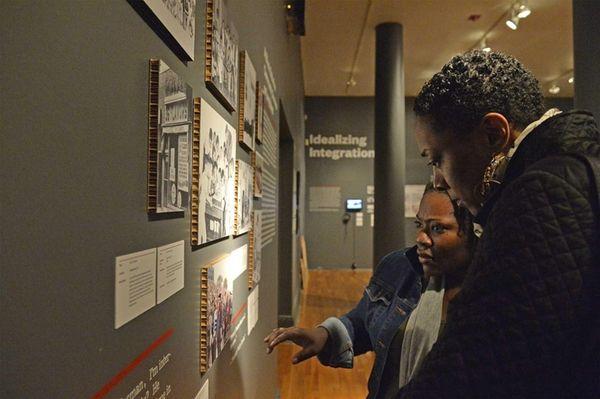 Naomi Leapheart and Kentina Washington tour the exhibit