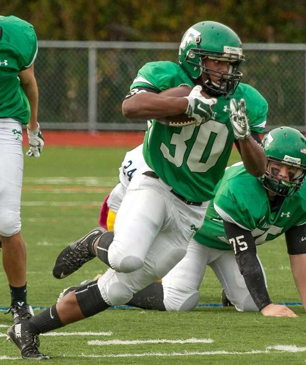 Farmingdale High School boys football player Jordan McLune