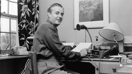 Curt Gowdy as he did a sports broadcast