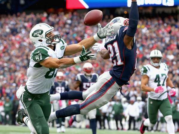 Malcolm Butler of the New England Patriots breaks