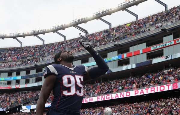 FOXBORO, MA - OCTOBER 25: Chandler Jones #95