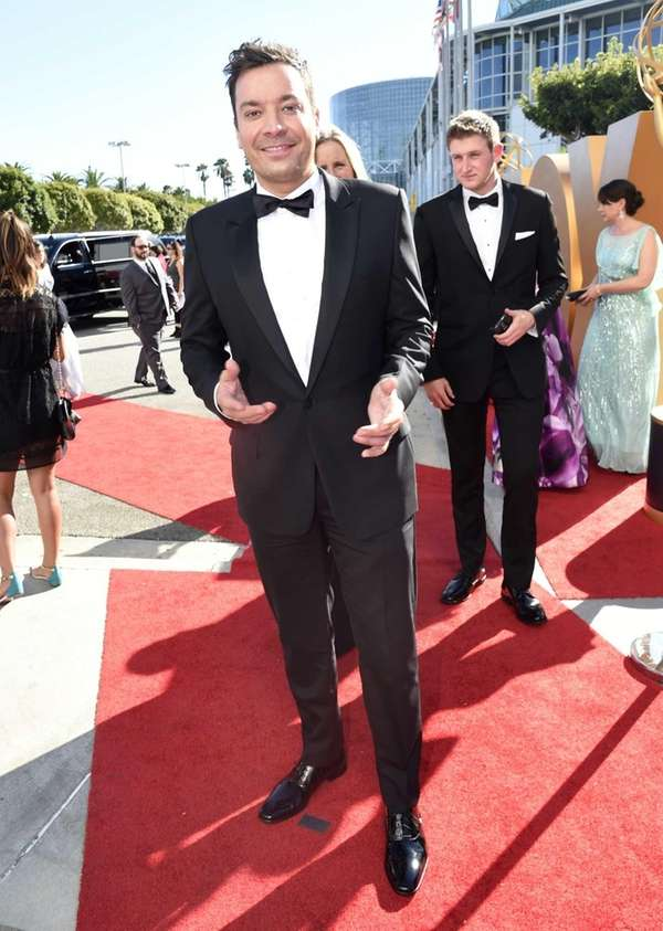 Jimmy Fallon arrives at the 67th Primetime Emmy