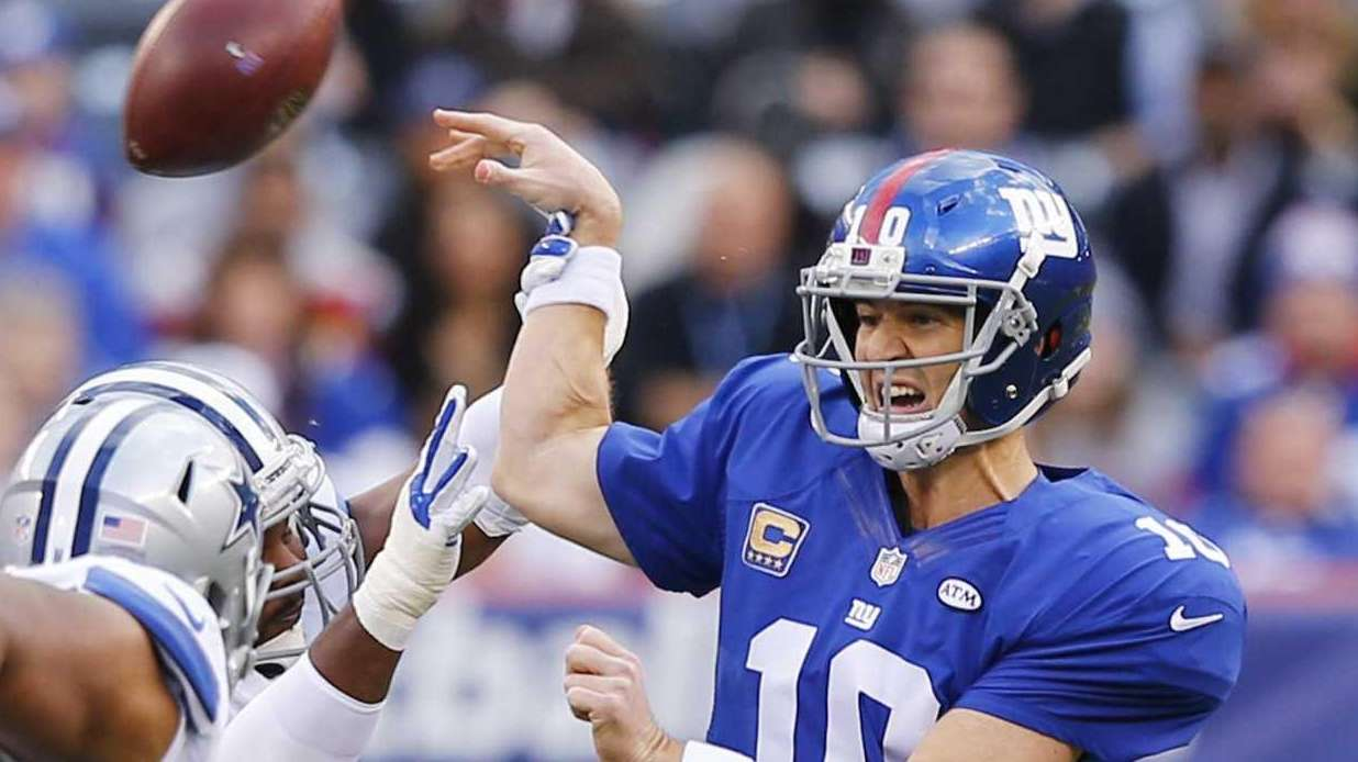 Eli Manning of the New York Giants has